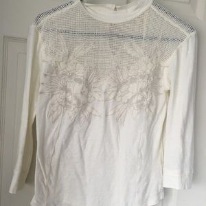 Free People Embroidered Sweater